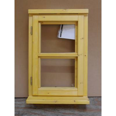Wooden Timber Window Horizontal Centre Bar Casement Unglazed Jeldwen 483x1045mm - Handing (externally viewed):